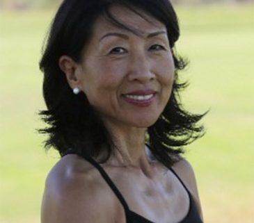 Harumi, teaching Phoenix Rising Yoga Therapy