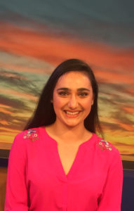 head shot of Lauren Bukoskey on sunset background