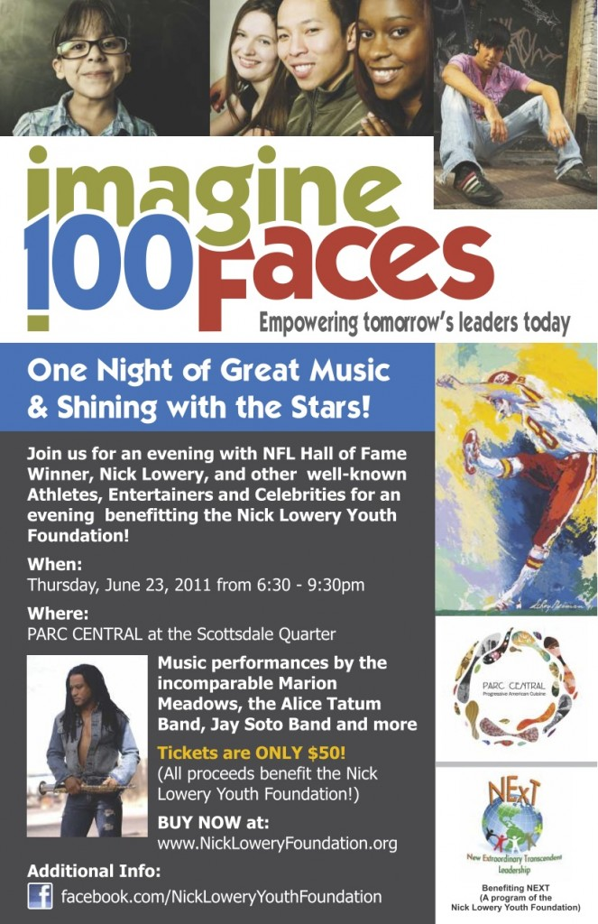 Nick Lowery Youth Foundation Imagine 100 Faces Event