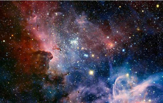 A nebula in space
