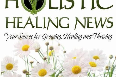 holistic healing news lego with white flower background