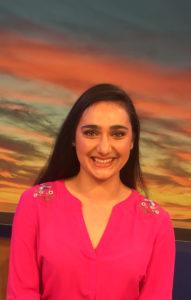 head shot of Lauren Bukoskey on sunset background