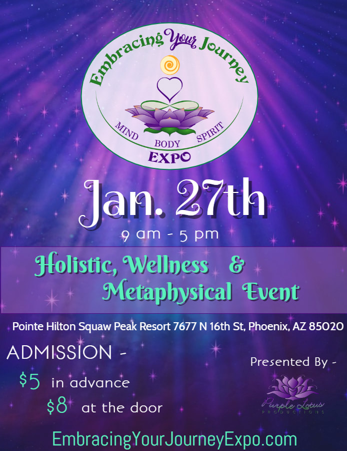 purple Embracing Your Journey Expo Flyer
